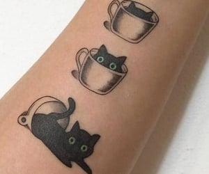 cat tattoo, gato, and tatuagem image