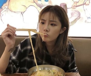 asian girl, chinese, and eating image