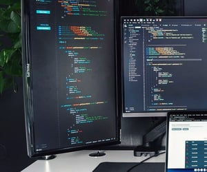 coding, desk, and it image