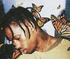 butterfly, wallpaper, and travis scott image