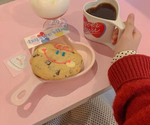 pink, aesthetic, and cookie image