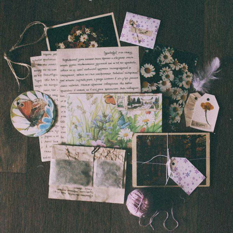 letters, memories, and vintage image