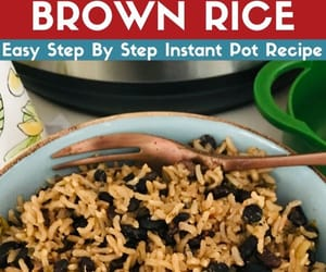 brown rice, black beans, and instant pot image
