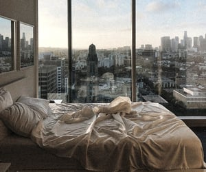 bedroom, city, and view image