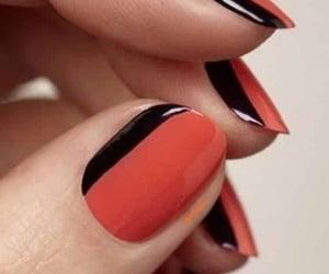 sideways french manicure image
