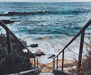 beach, therapy, and waves image