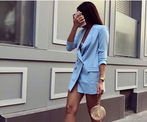 fashion, blue, and girl image