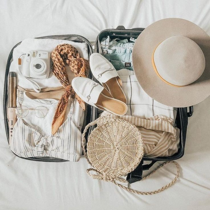 travel, camera, and clothes image