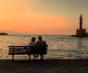 couple, crete, and Greece image