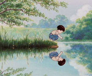 aesthetic, reflection, and grave of fireflies image