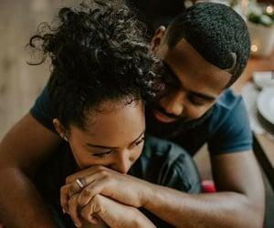 black, couple, and lové image