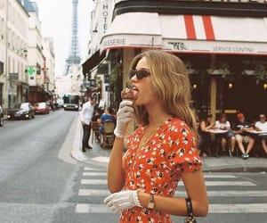 fashion, girl, and ice cream image