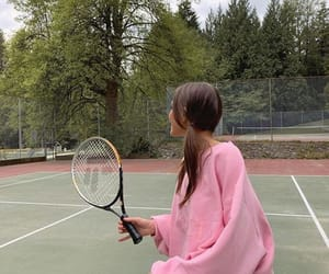 pink, tennis, and girl image