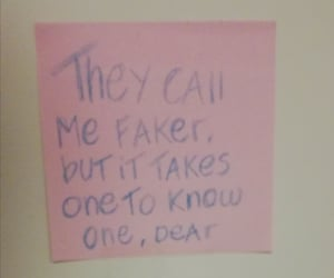 pink, truth, and post-it image