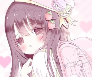 kawaii, pink, and soft image
