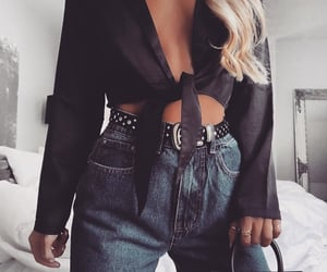 chic, jean, and perfect image