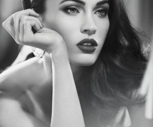 actress, black and white, and make up image