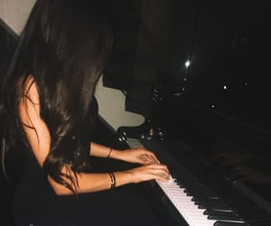 piano, madison beer, and hair image