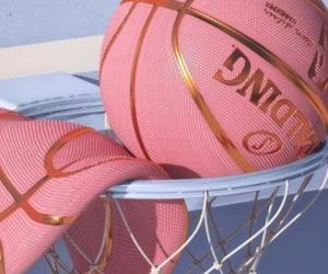 Basketball, pink, and wallpaper image