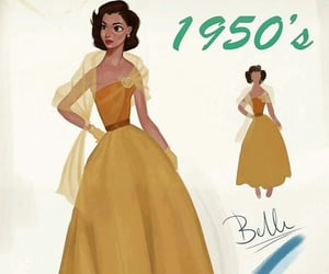 beauty and the beast, disney princess, and fashion image