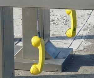 aesthetic, phone, and yellow image