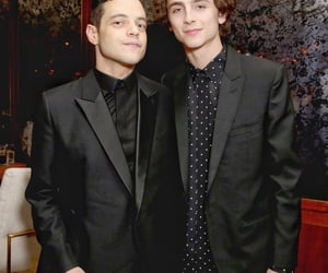 rami malek and timothee chalamet image