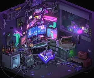 cyberpunk, cyberwave, and retrowave image