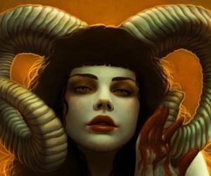 devil girl horns image