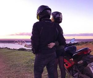 biker, love, and couple image