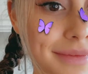ariana grande, butterfly, and singer image