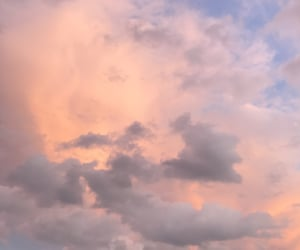 aesthetic, angelic, and clouds image