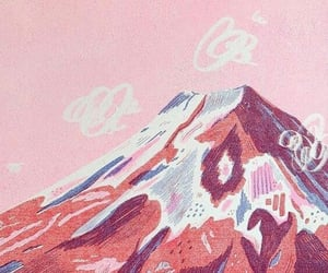 mountains, pink, and art image