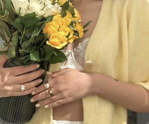 fashion, yellow, and jewelry image