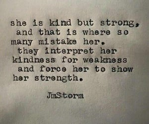 strong, kind, and quotes image
