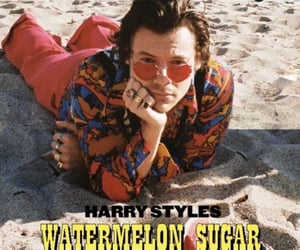 Harry Styles, watermelon sugar, and beach image