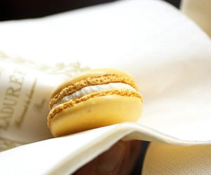 macaron, yellow, and food image