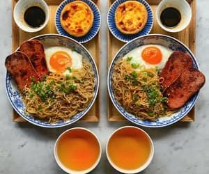 breakfast, egg, and noodles image