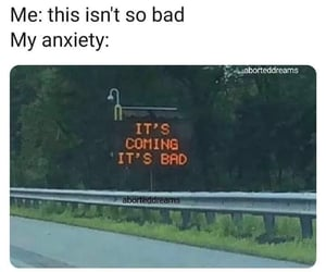 anxiety, funny, and lol image