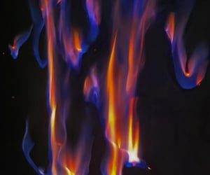 alternative, blue, and fire image