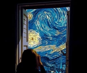 art, window, and van gogh image