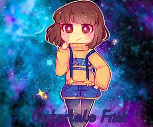 frisk, edited, and outertale image