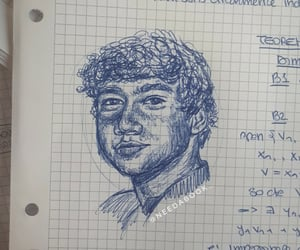 band, drawing, and luke hemmings image