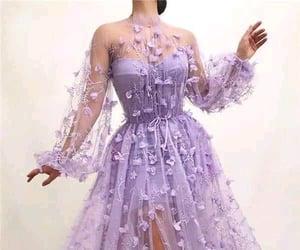 dress, purple, and fashion image