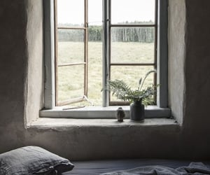 bed, style, and window image
