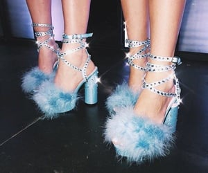 aesthetic, blue, and heels image