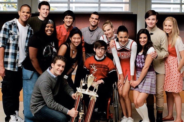 article, lea michele, and glee image