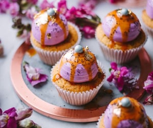 comida, cupcakes, and delicioso image