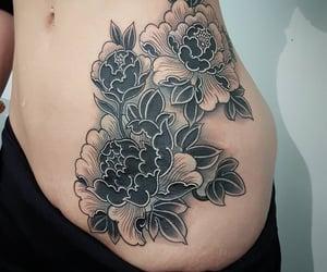 beautiful, black, and tattoo image