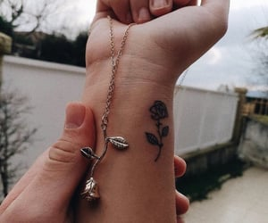body, roses, and tatto image