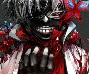 anime, flower, and centipede image